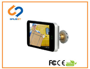 HD LCD Screen Lookout Smart Door Viewer / Wide Angle Digital Door Viewer Wifi
